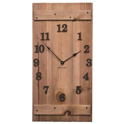 Precious Melodies Rustic Wood Clock with Chimes