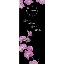 Precious Melodies Clock - Orchid with Chimes