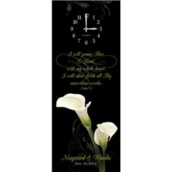Precious Melodies Clock - Calla Lily with Chimes