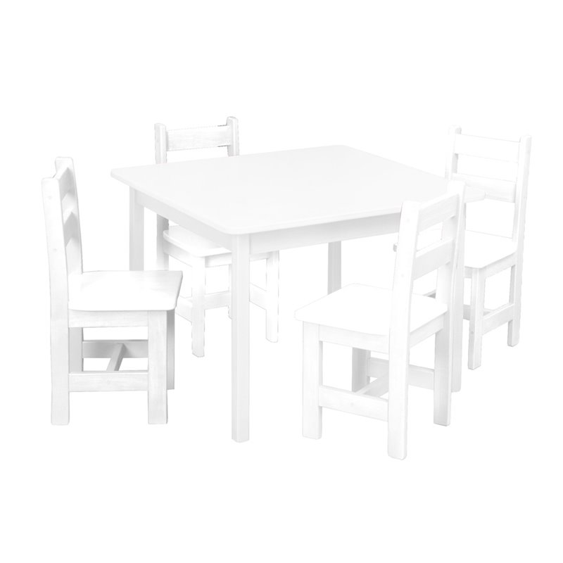 Child's Real Wood Table & 4 Chairs Set