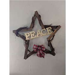 Primitive Wooden Christmas Star Decoration