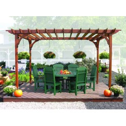 Poly Outdoor 4x6 Foot Oval Table, 2 Captain Chairs, 4 Regular Chairs - Multiple Heights
