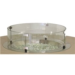 "Berlin Gardens 20"" Round Glass Wind Guard"
