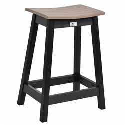 Berlin Gardens Outdoor Saddel Counter Stool