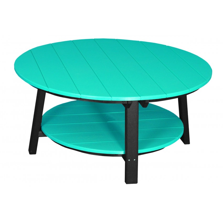 Outdoor Poly Deluxe Round Conversation Coffee Table Furniture Barn Usa