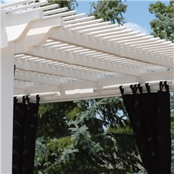 Berlin Gardens Pergola Curtain Rod - Set of 2
