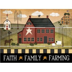 Wood Pallet Art - Family - Faith - Farming