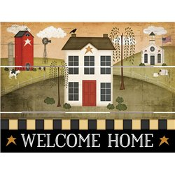 Wood Pallet Art - Welcome Home- House, Farm and Church