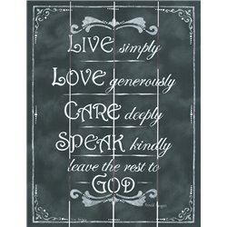 Wood Pallet Art - Live, Love, Care, Speak and God