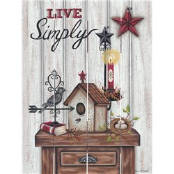 Wood Pallet Art - Live Simply, Decorative Table