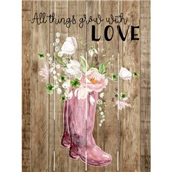 Wood Pallet Art - All Things Grow with Love