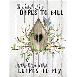 Wood Pallet Art - Dare to Fall, Learn to Fly