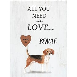 Wood Pallet Art - Love and a Beagle