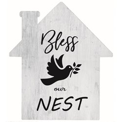 Bless Our Nest - House Cut Out Pallet Art