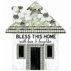 Bless This Home with Love - House Cut Out Pallet Art