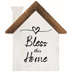 Bless This Home - House Cut Out Pallet Art