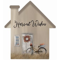 Harvest Wishes - House Cut Out Pallet Art