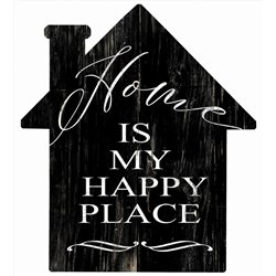 Home is my Happy Place - House Cut Out Pallet Art