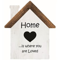 Home is where You are Loved - House Cut Out Pallet Art