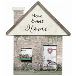 Home Sweet Home Bike - House Cut Out Pallet Art