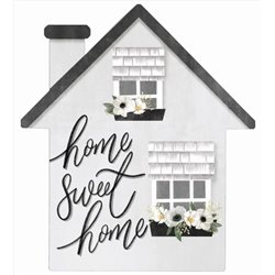 Home Sweet Home - House Cut Out Pallet Art