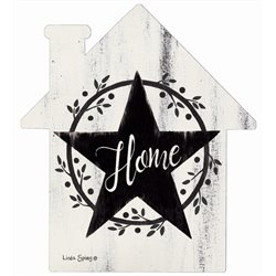 Home with Star - House Cut Out Pallet Art