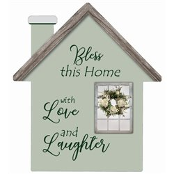 Love and Laughter - House Cut Out Pallet Art