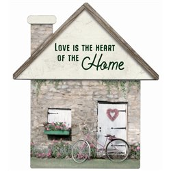 Love is the Heart - House Cut Out Pallet Art