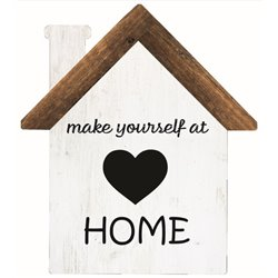 Make Yourself at Home - House Cut Out Pallet Art