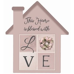 This Home is Blessed - House Cut Out Pallet Art