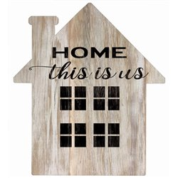 This is Us - House Cut Out Pallet Art