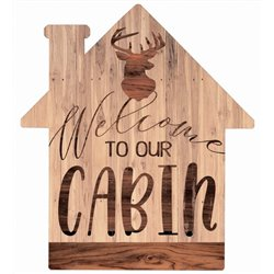 Welcome to our Cabin - House Cut Out Pallet Art