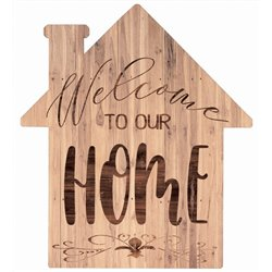Welcome to our Home - House Cut Out Pallet Art