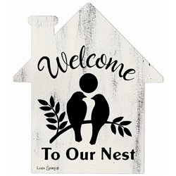 Welcome to our Nest - House Cut Out Pallet Art