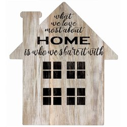 What we Love - House Cut Out Pallet Art