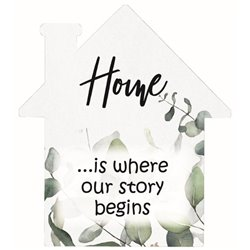 Where Our Story Begins - House Cut Out Pallet Art