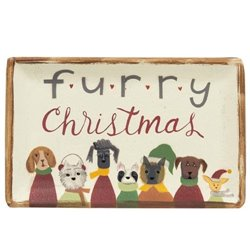 Serving Tray - Furry Christmas