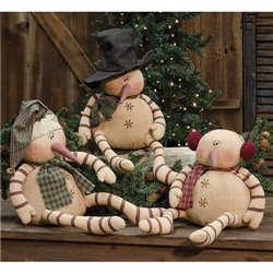 Whimsy Snowman - Large - Set of 3 Assorted