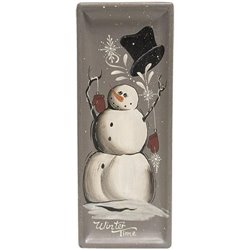 Winter Wishes Snowman Tray - Set of 2