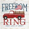Wood Pallet Art - Let Freedom Ring Truck