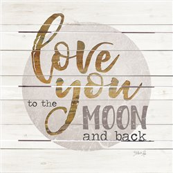 Wood Pallet Art -  Moon and Back