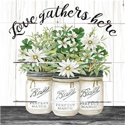 Wood Pallet Art - White Jars – Love Gathers Here