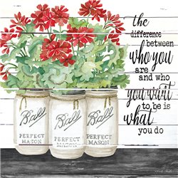 Wood Pallet Art - White Jars – What You Do