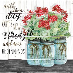 Wood Pallet Art - Blue Jars – New Beginnings