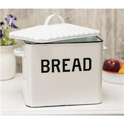 Black Rim Enamel Bread Box