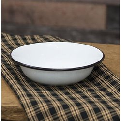 Black Rim Enamel Soup Bowl- Set of 6