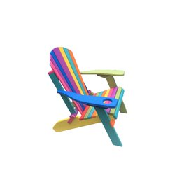 CONFETTI Folding Adirondack Chair in Poly Lumber with Cupholder