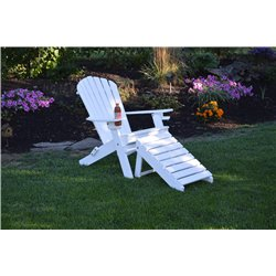 Deluxe 7 Slat Adirondack Chair with 2 cup holders and Ottoman