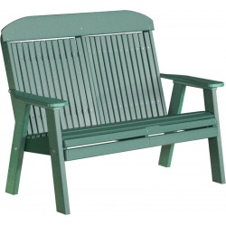 Poly 4ft. Classic Highback Bench / Chair - Green