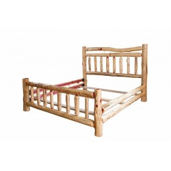 Rustic Red Cedar Log QUEEN SIZE BED, 4 DRAWER DRESSER AND NIGHTSTAND